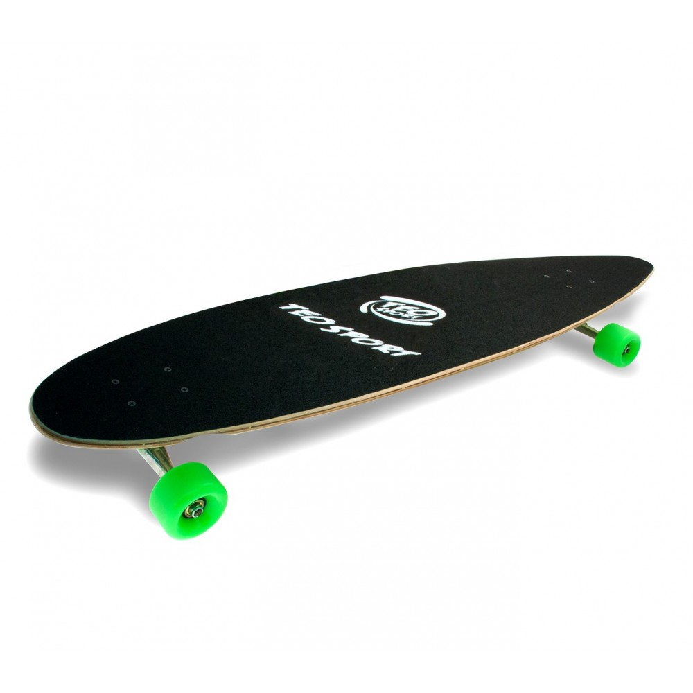 Longboard Skate 515500 SKULL ABEC-9 truck in alluminio 115 x 23 cm ruota 70 mm