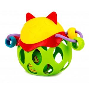 Image of Baby sonaglino con palla RICCIO CIGIOKI 397366 gioco educativo colorato + 6 mesi 8435524503027