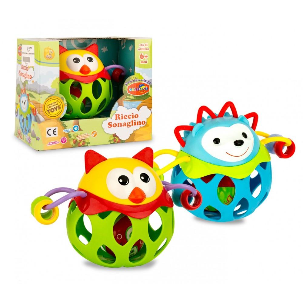 Baby sonaglino con palla RICCIO CIGIOKI 397366 gioco educativo colorato + 6 mesi
