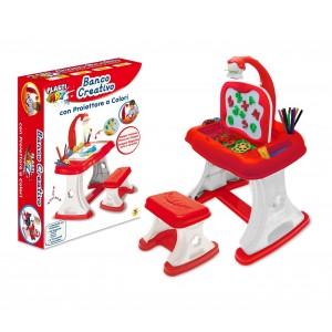 Banco creativo TEOREMA 633891 con proiettore a colori con pennarelli inclusi