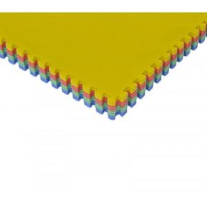 Tappeto puzzle eva 4 pz da gioco 393062 MULTICOLOR componibile 60x60x1 cm