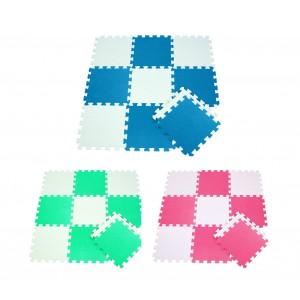 Tappeto puzzle eva 10 pz da gioco 410387 componibile 29.5 x 29.5 cm