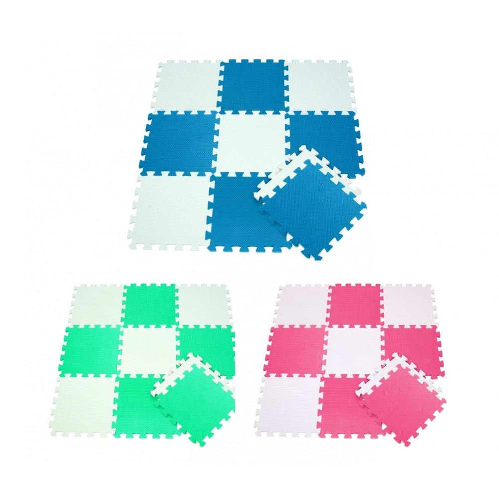Tappeto puzzle eva 10 pz da gioco 410387 componibile 29.5 x 29.5 cm BICOLORE