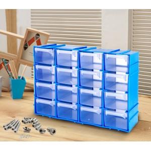 182475 Cassettiera SIMPLY BOX in plastica rigida porta minuteria 16 cassetti