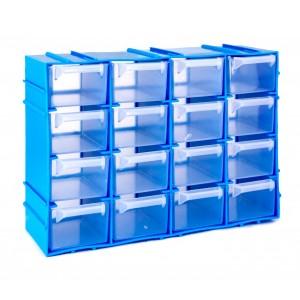 Image of Cassettiera SIMPLY BOX in plastica rigida 182468 porta minuteria 16 cassetti 8435524503188