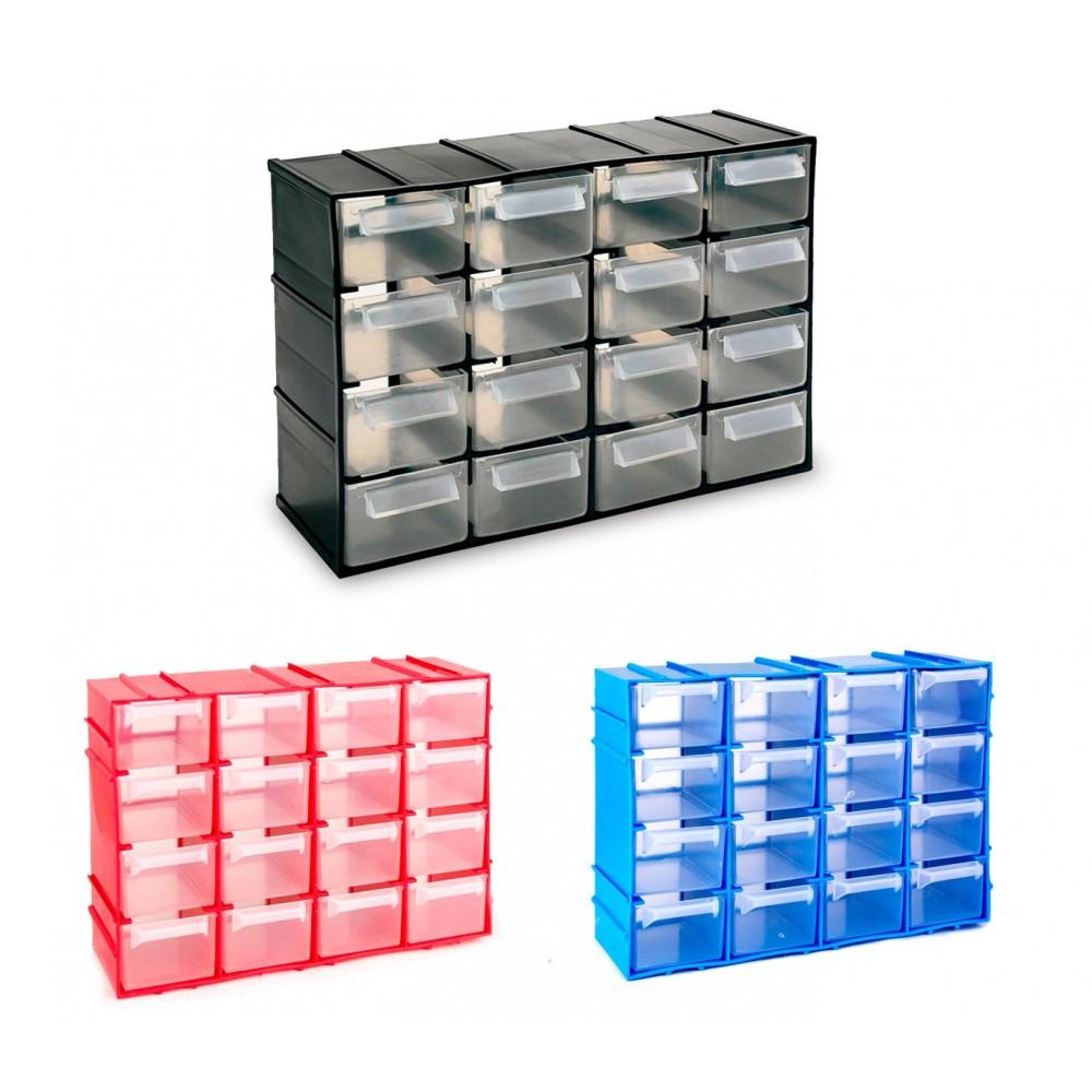 Cassettiera SIMPLY BOX in plastica rigida 182468 porta minuteria 16 cassetti