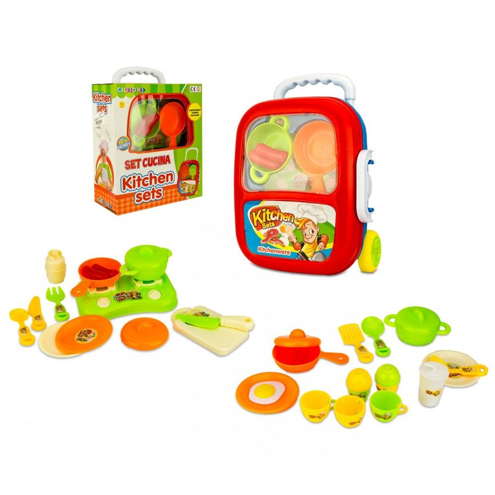 Playset cucina KITCHEN SET 363744 CIGIOKI trolley con tanti accessori