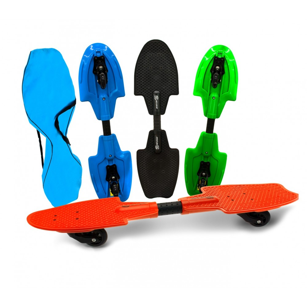 Snake skate fluo wave 515579 cuscinetti Abec 7 ruote con led luminosi
