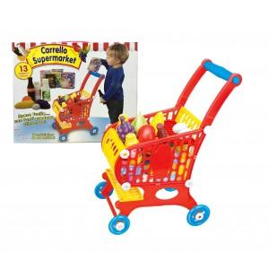 Carrello della spesa giocattolo 632306 TEOREMA con 13 accessori 53x20x36 cm