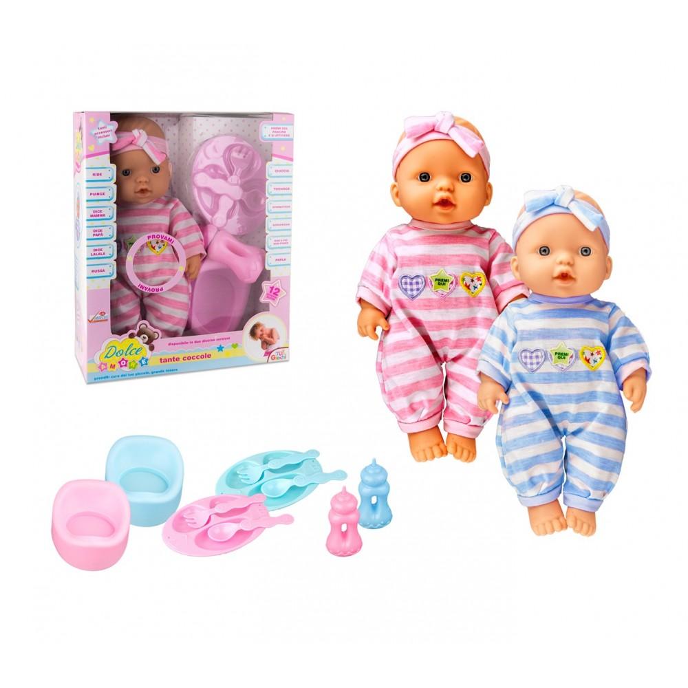 Bambola DOLCE AMORE COCCOLE 103525 tanti accessori inclusi 12 suoni TRY-ME