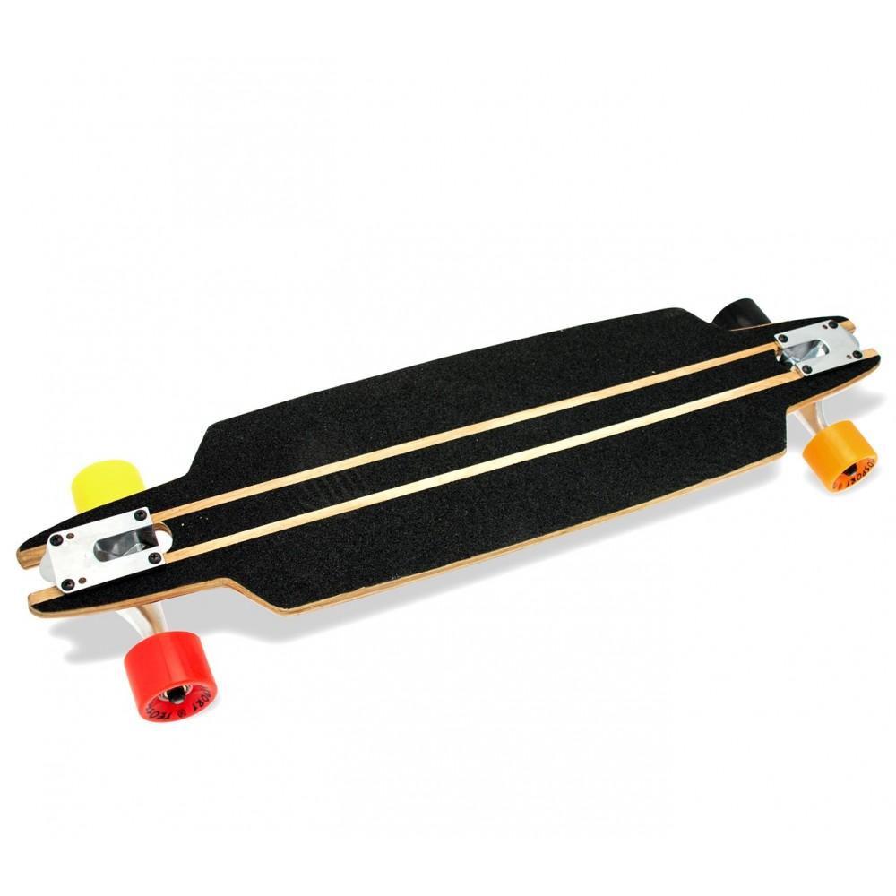 Skateboard sportivo antiscivolo 516781 in legno d'acero 79 cm cuscinetti ABEC 7