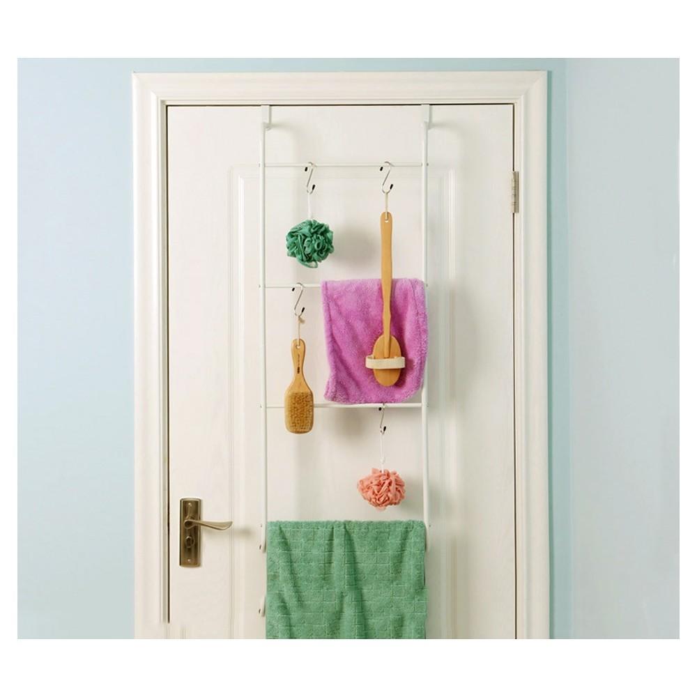 Porta asciugamani salvaspazio 4497 DA PORTA in acciaio bianco 110 x 40 x 13 cm