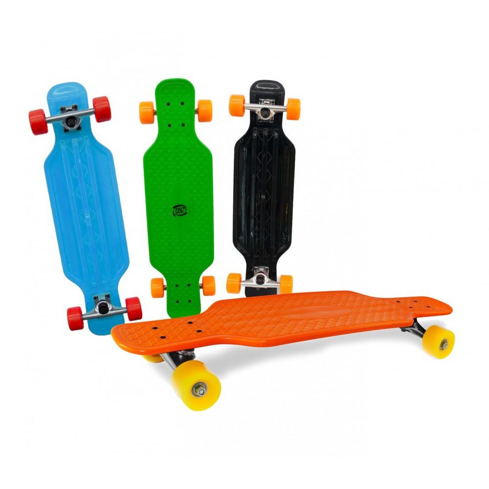 Skateboard antiscivolo in ABS 515654 COLORI FLUO cuscinetti ABEC 7 80 cm