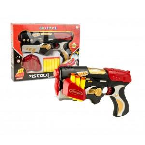 Pistola lancia dardi CIGIOKI LASER 394915 con 6 colpi in spugna e bersaglio