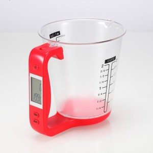 Image of Caraffa con bilancia digitale pesa ingredienti con display lcd 8012378601279