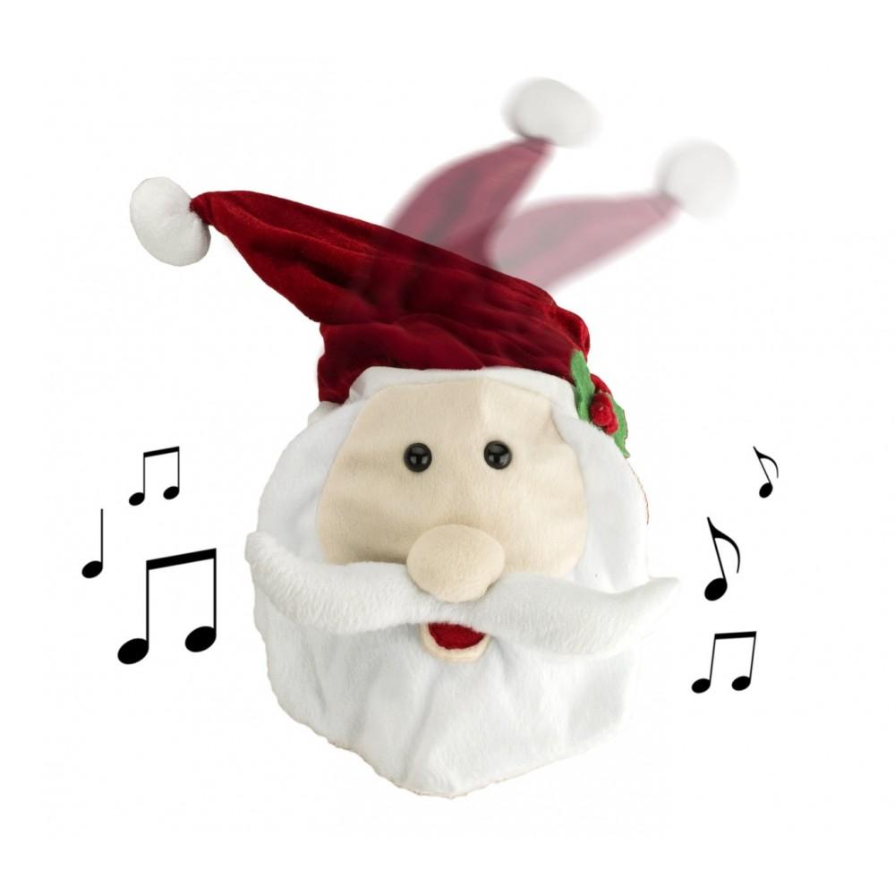 Babbo Natale Musicale.Cappello Musicale Babbo Natale Ballerino Con Movimento 37 X 23 X 13 Cm
