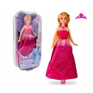 Image of Bambola girl fashion PRINCESS 223239 con corona e accessori 8435524503805