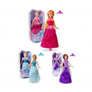 Bambola girl fashion PRINCESS 223239 in diversi colori con corona e accessori