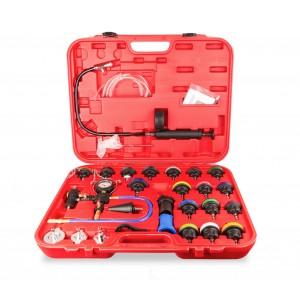 Image of Tester pressione radiatore 4503 FUBUCA con spurgo a vuoto e kit ricarica 27 pz 8435524508640