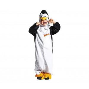 Costume carnevale PINGUINO DI MADAGASCAR JC062 due pezzi tuta e cappuccio