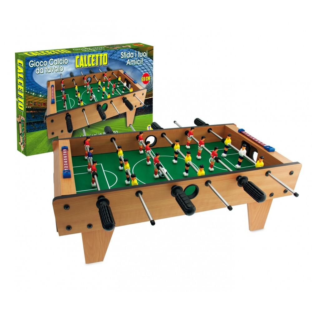 Calcio balilla da tavolo calcetto teorema 634454 in legno e plastica - Calcio balilla da tavolo ...