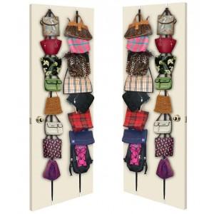 Image of Organizer per borse da porta con 16 ganci appendi borsa sciarpe e cappelli 8435524516188