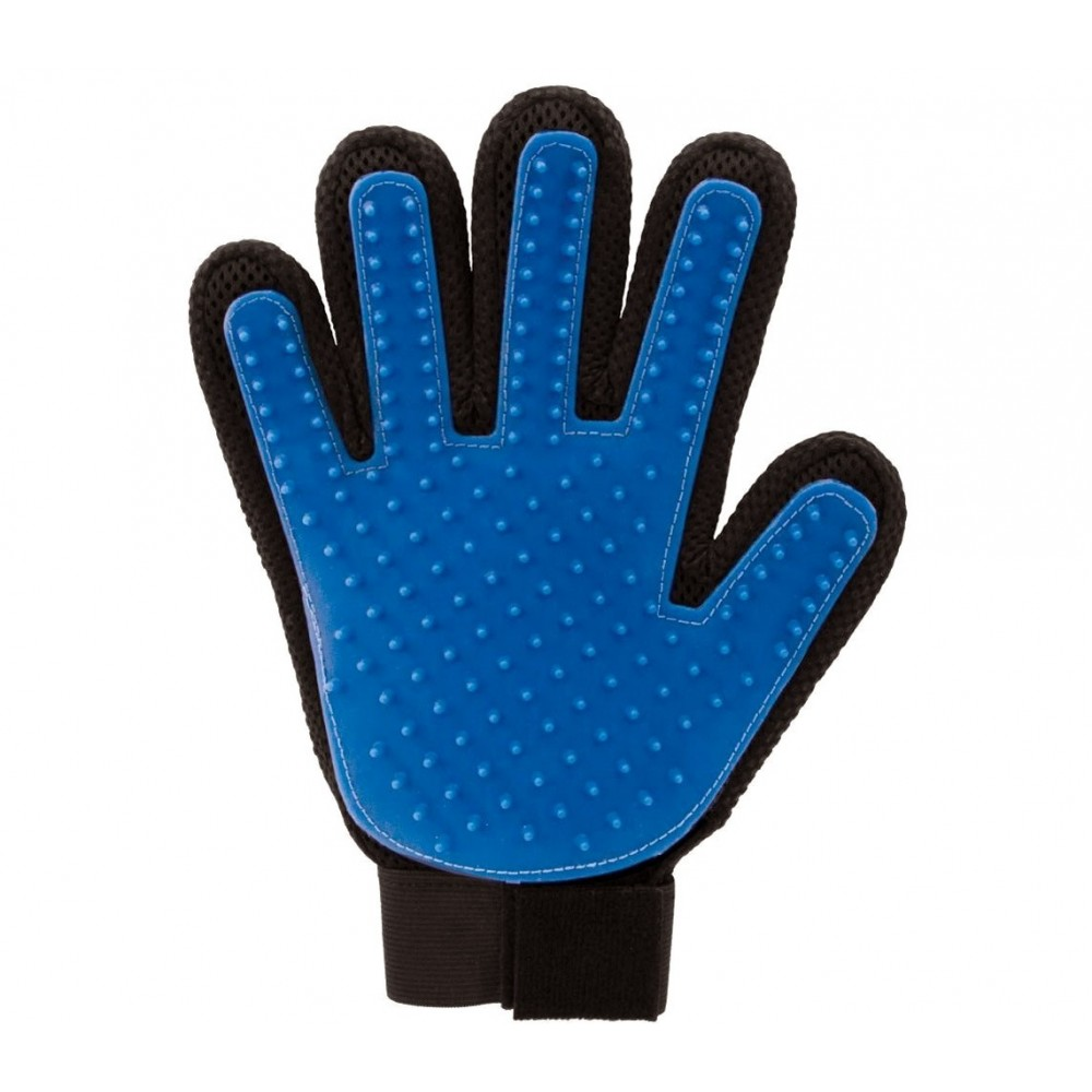 Guanto per rimozione pelo degli animali 4560 spazzola massaggiante blu