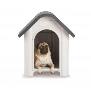 Cuccia casetta per cani piccola 4566 con oblò e prese d'aria 59.2 x 66 x 63 cm