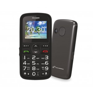 Image of Cellulare per anziani TECHMADE TM-C08BK tasto sos e base di ricarica 8435524504079