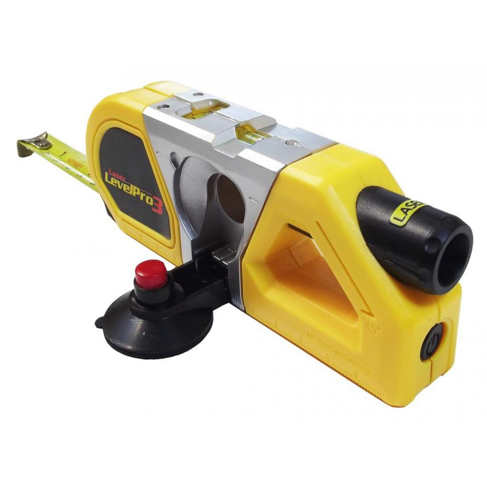 Livella laser level pro 3 in 1 con ventosa metro estraibile e righello