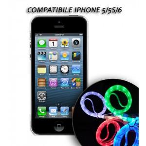 Image of Cavo dati usb luminoso caricabatteria compatibile Iphone 5/5S/6 8014567813463
