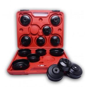 Image of Kit 15 boccole per filtri auto chiavi a tazza per filtro olio in valigetta 8048785478753