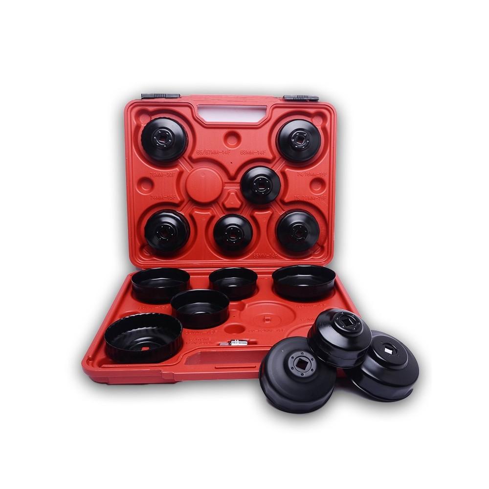 Kit 15 boccole per filtri auto chiavi a tazza per filtro olio in valigetta