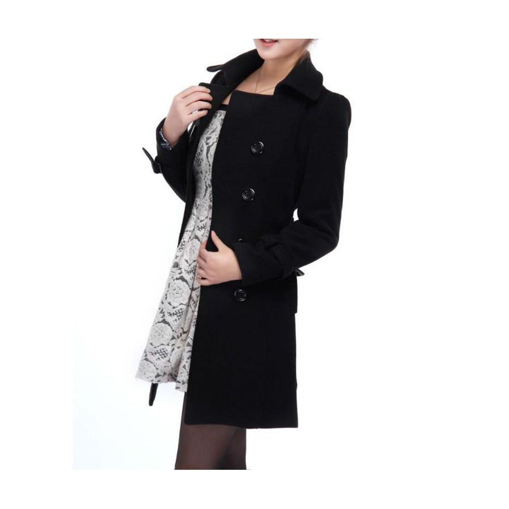 Trench donna PURE cappotto lungo taglio classico doppiopetto giacca