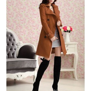 Image of Trench donna PURE cappotto lungo taglio classico doppiopetto giacca 8041785478006