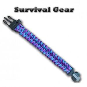 Image of Bracciale unisex survival gear bracciale sopravvivenza 4 in 1 con pietra focaia 8034561297892