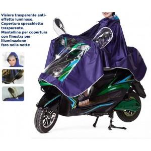 Image of Mantellina impermeabile unisex scooter moto catarifrangente universale 8041785478426