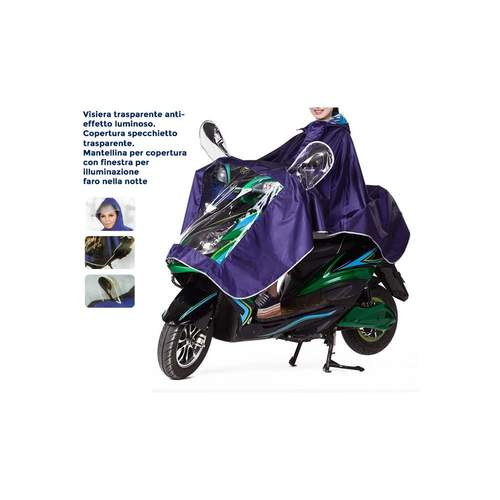 Mantellina impermeabile unisex scooter moto catarifrangente universale