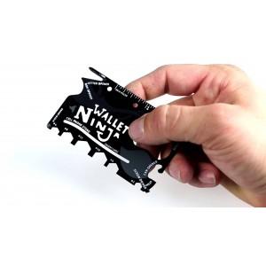 Image of Utensile multiuso 18 in 1  sopravvivenza ninja wallet credit card multi tool 8024354768197