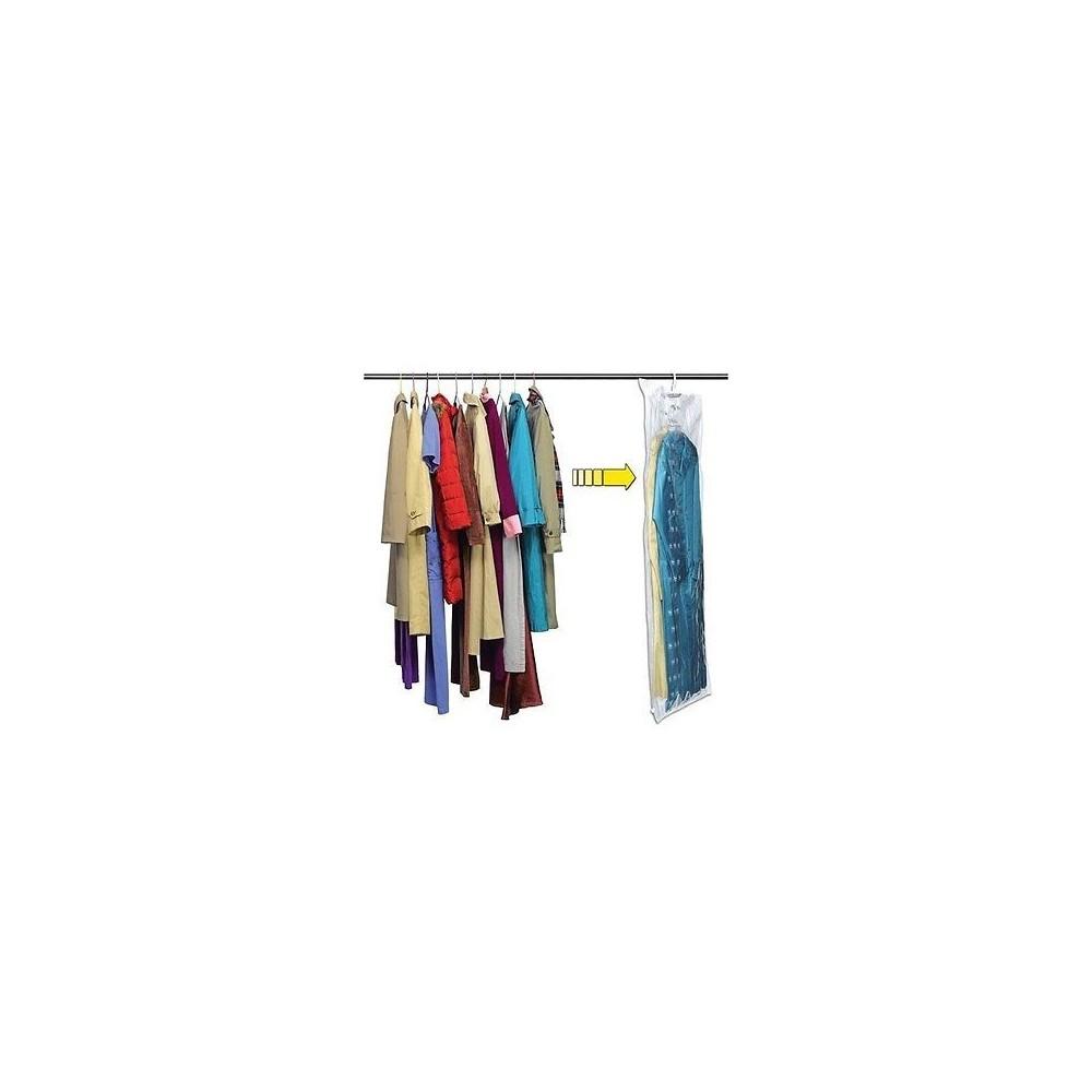 Sacco sottovuoto sacchetto vestiti con gancio custodia indumenti appendi abiti