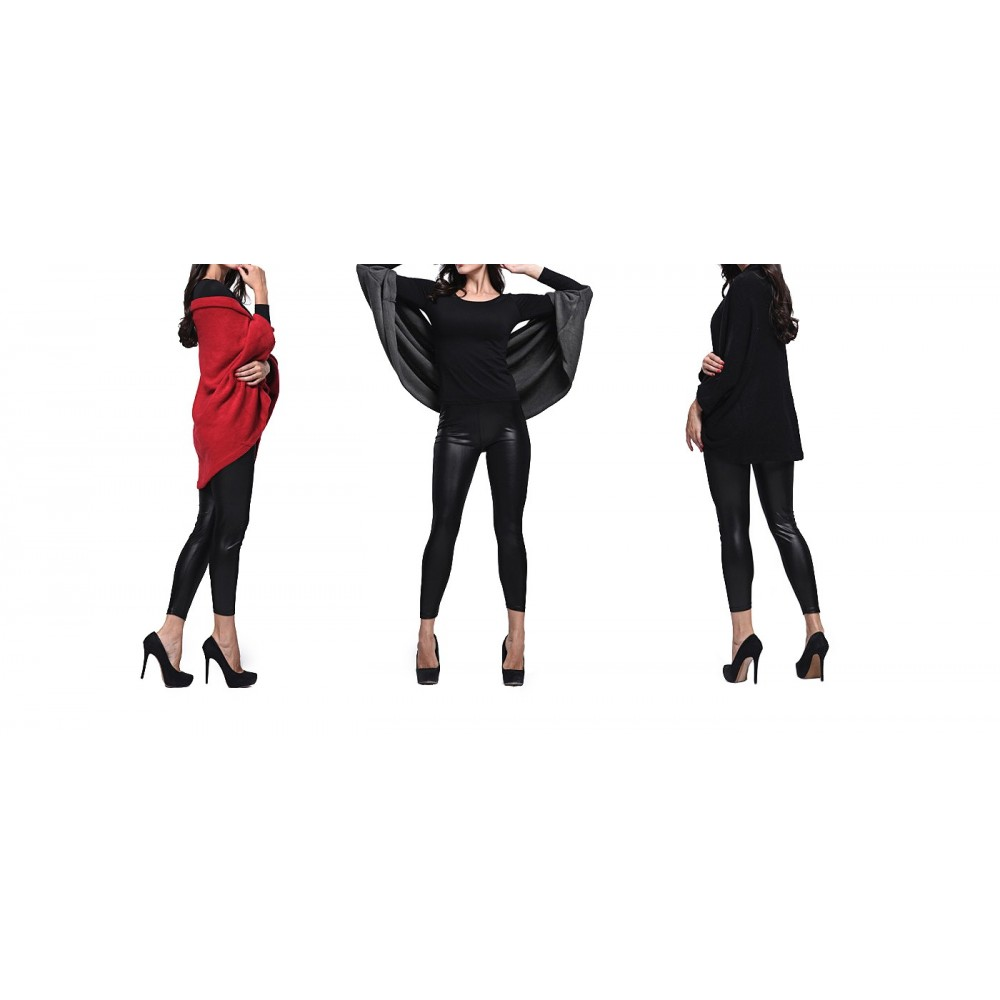 Cardigan donna svasato oversize modello Sevia casual ed elegante con maniche a pipistrello