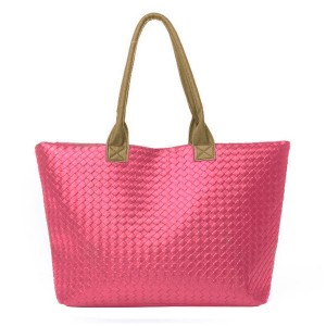 Image of Borsa donna a mano shopping bag MWS AHEAD modello Jolie da spalla trama a maglia eco pelle 8012534345672