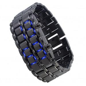 Image of Orologio bracciale digitale led Iron Samurai metallo uomo donna bracelet watch 8016584597685