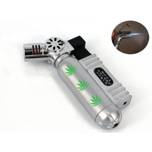Accendino color acciaio mega pocket a gas antivento pipe e sigari