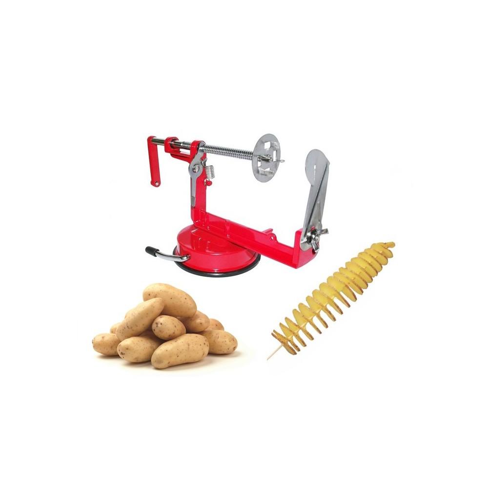 sbuccia patate a spirale twister taglia affetta pela patate. Black Bedroom Furniture Sets. Home Design Ideas
