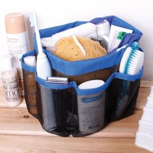 Image of Borsa organizer da bagno 8 tasche da viaggio multitasche shower caddy con rete traspirante 8046576849690