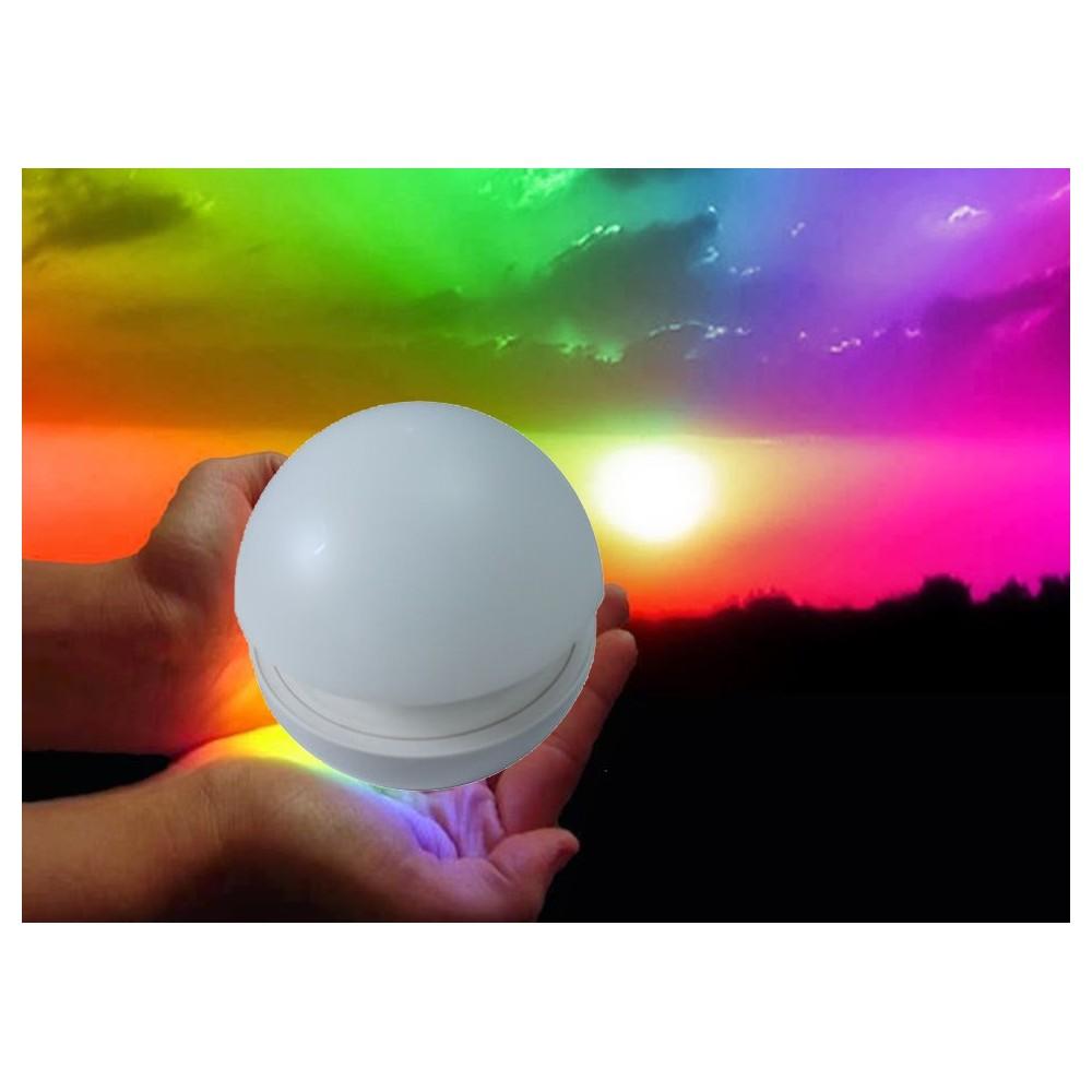 Lampada a fungo cromoterapia da tavolo lumino ad accensione a pressione rgb multicolor