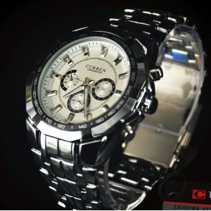 Image of Orologio analogico mod. Paris uomo cinturino acciaio con finto cronografo 8435524507438