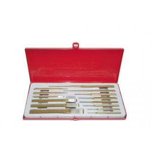 Image of Accessori punzoni legno 14 pz cacciaspine scalpelli 8000000115393