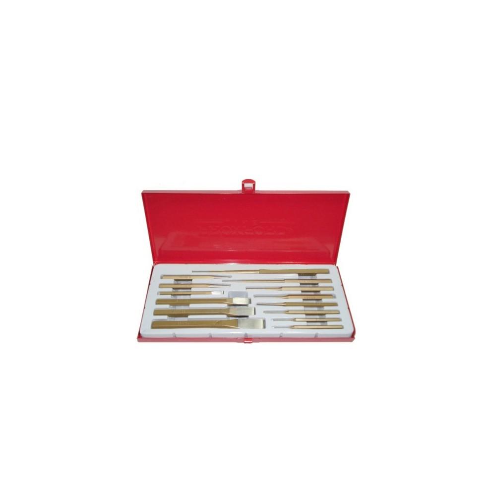 Accessori punzoni legno 14 pz cacciaspine scalpelli